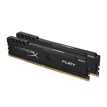 HyperX Fury 16GB 2666MHz DDR4 CL16 DIMM  Kit of 2  1Rx8 Black XMP Desktop Memory HX426C16FB3K2/16