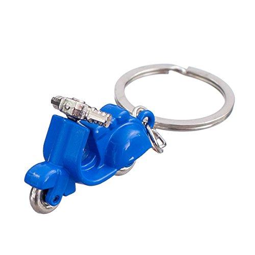 """nanomondo Schlüsselanhänger """"Blauer Motorroller"""" aus Metall N1099"""