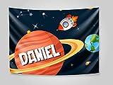 Oedim Banderas para Decoración de Habitaciones Infantiles Personalizado Planetas 200 x 60 cm | Uso Cabecero, Cuadro | Artículo Decorativo de Salas | Decoración Hogar |