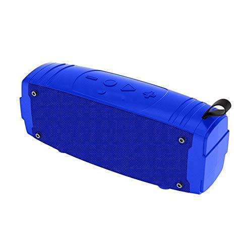 XIXV Altavoz portátil Bluetooth Mini Radiocomunicaciones Columna for el teléfono del Ordenador al Aire Libre Altavoz estéreo de música Envolvente Basso El Altavoz Boombox (Color : Blue)