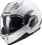 LS2 Valiant II Casco de Moto, Hombre, Blanco, XL