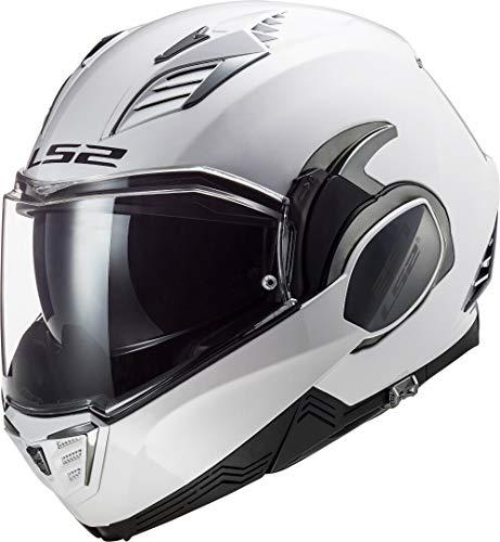 LS2 Valiant II Casco de Moto, Hombre, Blanco, L