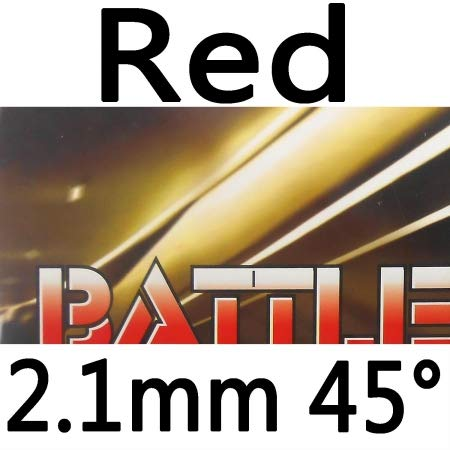 Review Friendship 729 Battle II Tacky Pips in Table Tennis Rubber Sheet (red 2.1mm 45°)