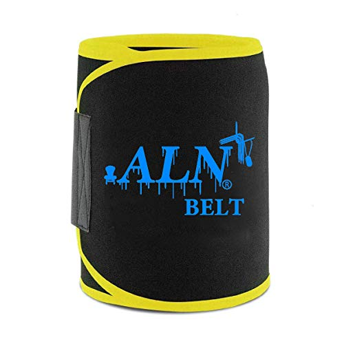 ALN® Hot Shaper Sweat Slim Belt Free Size for Man and Women Fat Burning Sauna Waist Trainer - Promotes Healthy Sweat, Weight Loss, Lower Back Posture(Free Size)(Both Men and Women)