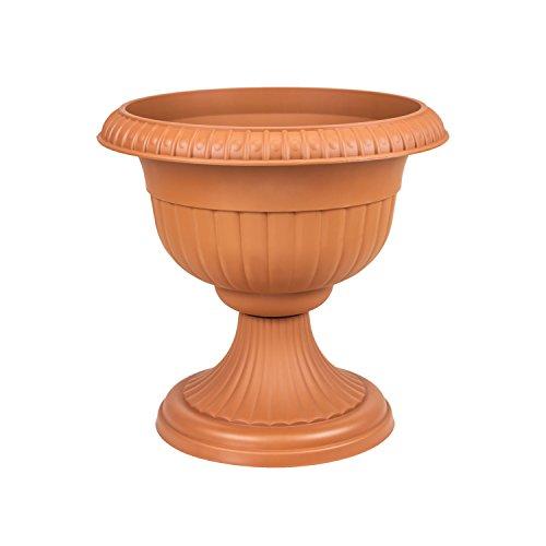 Pot de Fleur en Plastique Roma avec Soutien, ht. 34 cm, en Terre Cuite
