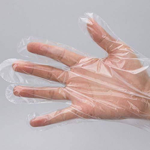 PRETYZOOM 300 Stks Wegwerphandschoenen Dikker Transparante Handschoenen Beschermende Food Grade Pe Wanten Handschoenen Voor Industriële Arbeid Voedsel Werken (100 Stks in 1 Pack)