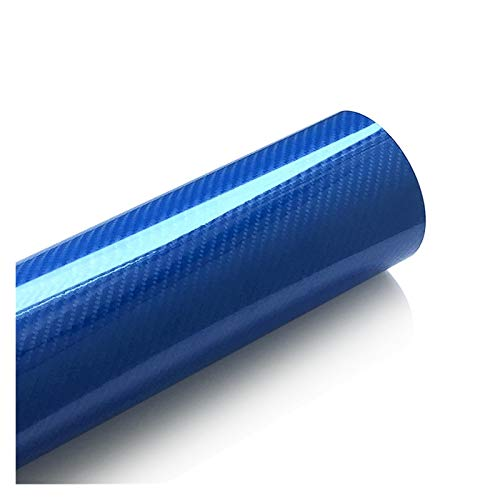 Vinilo Coche Tablet 5D fibra de carbono de envolver la película del vinilo de la motocicleta etiquetas adhesivas y etiquetas Accesorios for automóviles Car Styling 2 (Color Name : Blue)