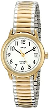 Timex Women s Easy Reader 25mm Quartz Analog Stainless Steel Strap Two Tone 12 Casual Watch  Model  T2H381
