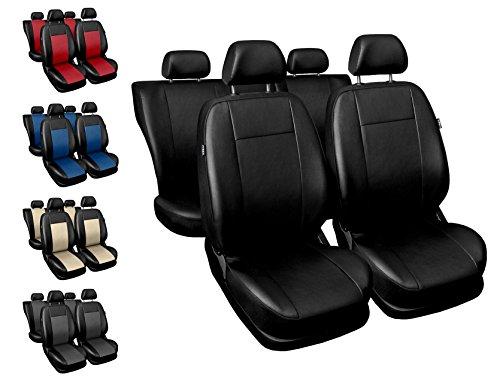 Carpendo Sitzbezüge Auto Set Autositzbezüge Schonbezüge Schwarz Vordersitze und Rücksitze - Airbag geeignet - Comfort