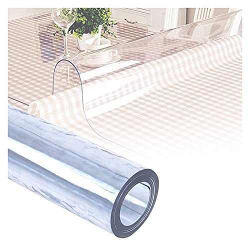AYLYHD Transparente Mantel, 1.5/2/3 mm de Espesor Antimanchas Rectangular Manteles Impermeable Mantel Sin Olor PVC Protector de Mesa para Cocina/Sala de Estar/Jardin (Color : 3.0mm, Size : 90x90cm)