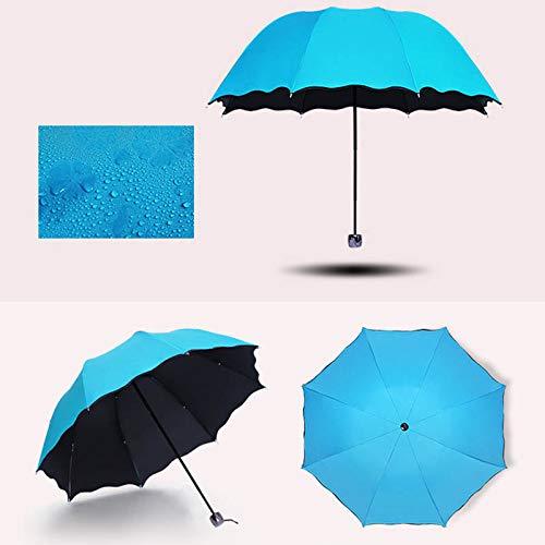 Symboat Paraguas plegable Bloom Fleur, parasol cortavientos para deportes al aire libre,...