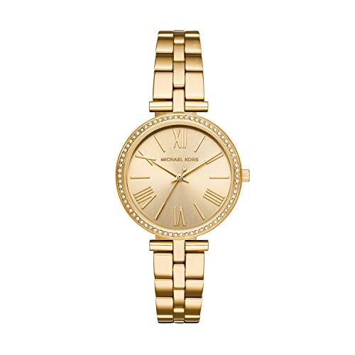 Michael Kors Damen Analog Quarz Uhr mit Edelstahl Armband MK3903