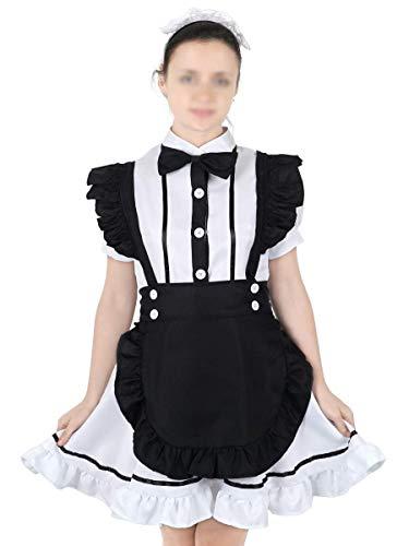CoolChange Vestido Blanco Cosplay de Camarera con Delantal, tamaño: L