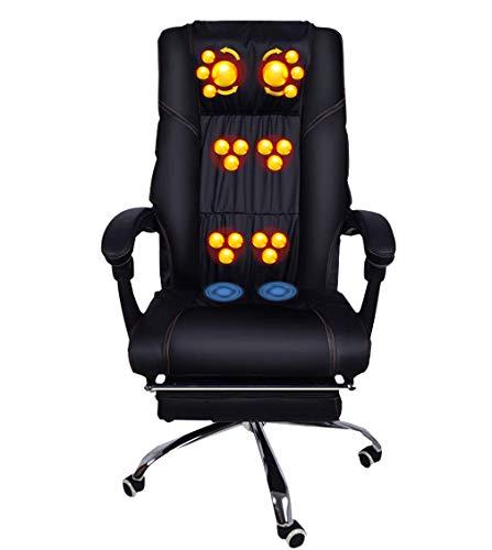 KAYBELE Black Office Massage Chair Cervical Vertebra Massager Lounge Chair Waist Back Hip Multifunction Massage Chair