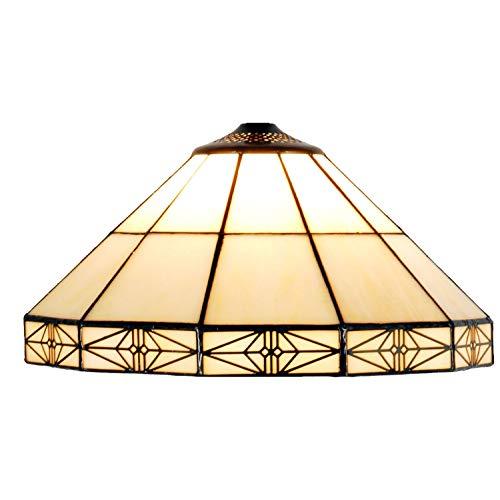 LumiLamp 5LL-3087 Tiffany - Pantalla para lámpara (cristal, 32 cm de diámetro, hecha a mano), diseño de Tiffany