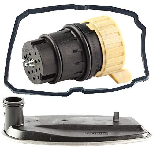 Bapmic 1402770095 Auto Transmission Filter + Oil Pan Gasket + Plug Adapter for Mercedes 722.6