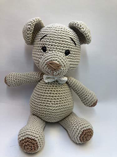 Peluche ourson 25cm crochet en coton pour enfant