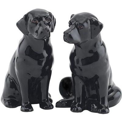 Quail Ceramics - Black Labrador Salt And Pepper Pots from Quail Ceramics