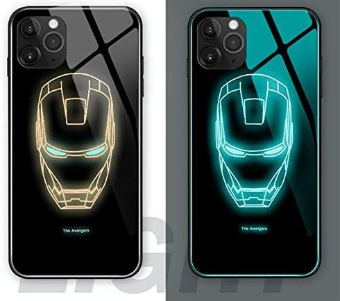 XYHS Ironman Marvel Avengers Coque de protection en verre pour iPhone 11 Pro, Ironman