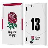 Head Case Designs Officiel England Rugby Union Position 13 2020/21 Joueurs Home Kit Coque en Cuir à Portefeuille Compatible avec Amazon Kindle Fire HDX 8.9