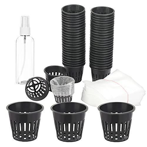 TGFIX 50 pezzi Cestini idroponici in plastica, vaso per piante idroponiche, vaso per coltura...