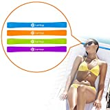 LAMTOP Beach Towel Clips (4 Pack)-Multipurpose Bands-Adjustable Straps -Beach Towel Holder-Clips Chairs For Pool Lounge Chairs-Cruise Ship Accessories- Beach Vacation Accessories-Keeps Towel On Chair