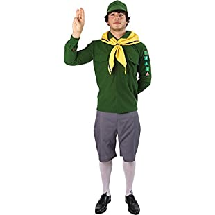 Adult Boy Scout Adventure Fancy Dress Cubs Costume Beavers Outfit Extra Large:Maskedking