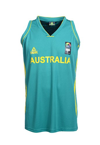 Peak Sport Europe Erwachsene Australien Basketball Trikot, Grün, M