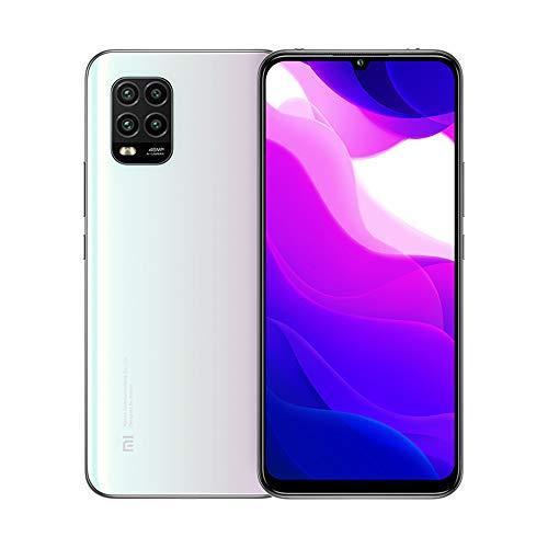 Xiaomi Mi 10 Lite 5G Smartphone 6 GB 128 GB Qualcomm Snapdragon 765G Octa Core 48MP AI Quad Kameras 6,57 Zoll AMOLED TrueColor Display Handy NFC (weiß)