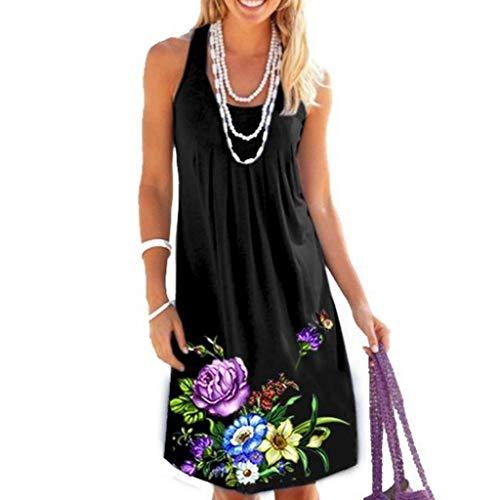 Momoxi Vestito Abito Donna Eleganti da Cerimonia, Swing di Promenade del Partito di Sera Casuale Senza Stampa dell'Annata delle Donne Confortevole, Sexy, Affascinante, Economica, Bella Gonna