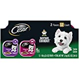 Cesar Backyard Cookout Adult Soft Wet Dog Food Classic Loaf in Sauce Variety Pack, Grilled Chicken & Porterhouse Steak Flavors, (12) 3.5 oz. Easy Peel Trays