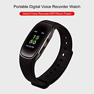 Portable Digital Voice Recorder Watch MP3 Music Player Voice-Activated Recording 16G for Meeting Lecture Interview