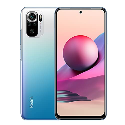 Xiaomi Redmi Note 10S Smartphone 6GB 128GB Teléfono,con NFC,MediaTek Helio G95 Procesador,6.43' AMOLED DotDisplay,(64MP+8MP+2MP+2MP) Quad Camera,Dual SIM Card,AI Face Unlock Versión Global(Azul)