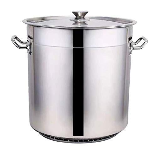 LYLSXY Pentola, Grande Vaso da Cucina, Diametro 60 Cm, Altezza 37 Cm, 90 Litri, Acciaio Inossidabile, Fondo Composito Addensato