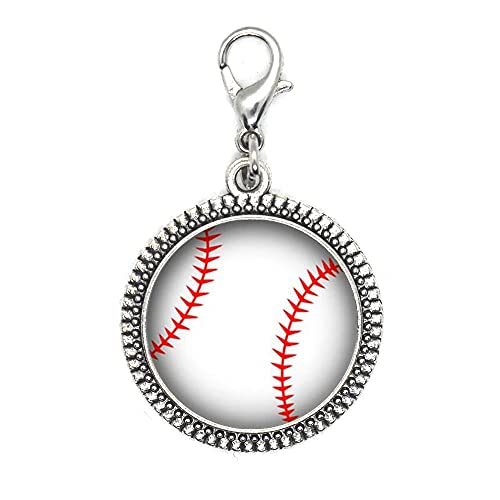 Tirador de cremallera de béisbol, joyería de béisbol, joyería deportiva, hobby, joyería de la mamá de béisbol, regalo del equipo de béisbol, amante del béisbol-JV306