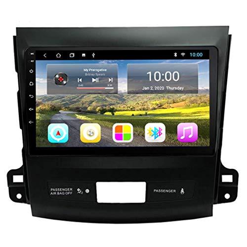 Estéreo de coche Android 8.1 Pantalla táctil completa Navegación por radio Gps para automóvil de 9 pulgadas para Mitsubishi Outlander 2006-2013, con radio de automóvil Multimedia Video GPS 2.5D Touch