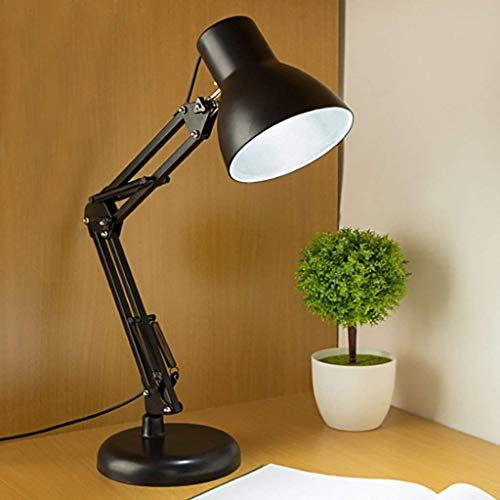 ZHANGYY Lámparas de Escritorio Escritorio de Estudio Minimalista Moderno Lámpara de Mesa de Escritorio Negra Lámpara de Ojo Personalidad nórdica Creativa Brazo Largo Dormitorio Plegable Lá