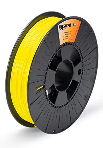 BASICFIL PLA175-500-YELLOW 1.75 mm, 500 g Filamento de Impresión 3D, Amarillo