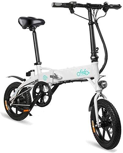 Bicicleta eléctrica de nieve, Bicicletas eléctricas rápidas for adultos 250W 36V 10.4Ah la batería de litio de 14 pulgadas ruedas llevaron la luz de la batería portátil silencioso motor eléctrico lige