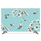 catch-L Interior TV LCD Coperchio del Display Copertura Antipolvere Manicotto Protettivo Fiori E Uccelli (Color : Blue, Size : 58inch)
