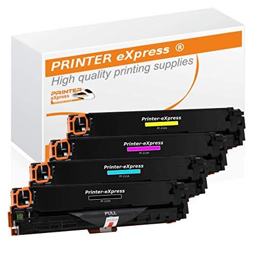 Printer-Express XXL Toner 4er Set ersetzt HP CF210X, CF210A, CF211A, CF212A, CF213A, 131X, 131A Toner für HP LaserJet Pro 200 Color M251 M251N M251NW M276 M276N M276NW Drucker