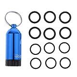 SM SunniMix Aluminium Taucherei Tauchei Tauchflasche mit Gummi Dichtungsring - Blau