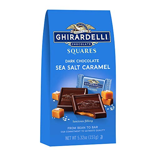 Ghirardelli Milk & Caramel Filled Squares Bag, 5.32 Ounce (Pack of 6)
