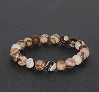 Hand made unisex bracelet autumn jasper 8mm.