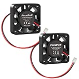 PLUSPOE 2-Pack 40mm x 10mm DC 12V Brushless Cooling Fan, Dual Ball Bearing for Computer case 3D Printer Humidifier and Other Small Appliances Series Repair Replacement