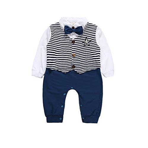 Baywell Baywell Unisex Baby Strampler Jungen Wenig Gentleman Kleidung Set Neugeborenen Säugling Spielanzug Jumpsuit Overall Nachtwäsche