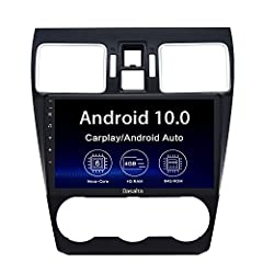 ★【Vehicle Compatibility 】Fit for Subaru Forester WRX 2016 2017 2018. Does Not Support Factory Harmon Kardon System. Built-in Carplay/Android Auto on board chip. Support Wireless & Wired USB Carplay/ Wired USB Android Auto ★【Radio Details】Android 10.0...
