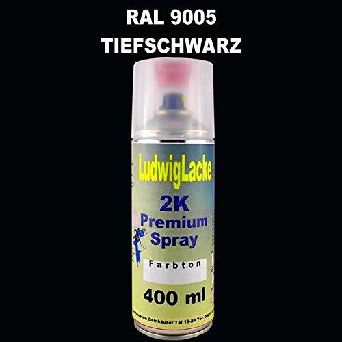 Ludwig Lacke RAL 9005 TIEFSCHWARZ 2K Premium Spray 400ml