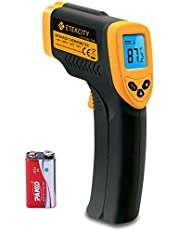 Etekcity Lasergrip 774 Digitale infrarood thermometer, infrarood-pyrometer, contactloos, temperatuurmeter, -50 tot +380 graden Celsius, LCD-verlichting, geel/zwart