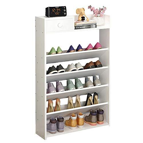 El bastidor de zapatos de madera de múltiples capas es estrecho, Zapatero de...